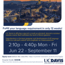 Learn German at UC Davis this Summer